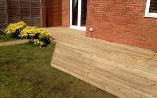 Garden decking portishead marina for Garden decking projects